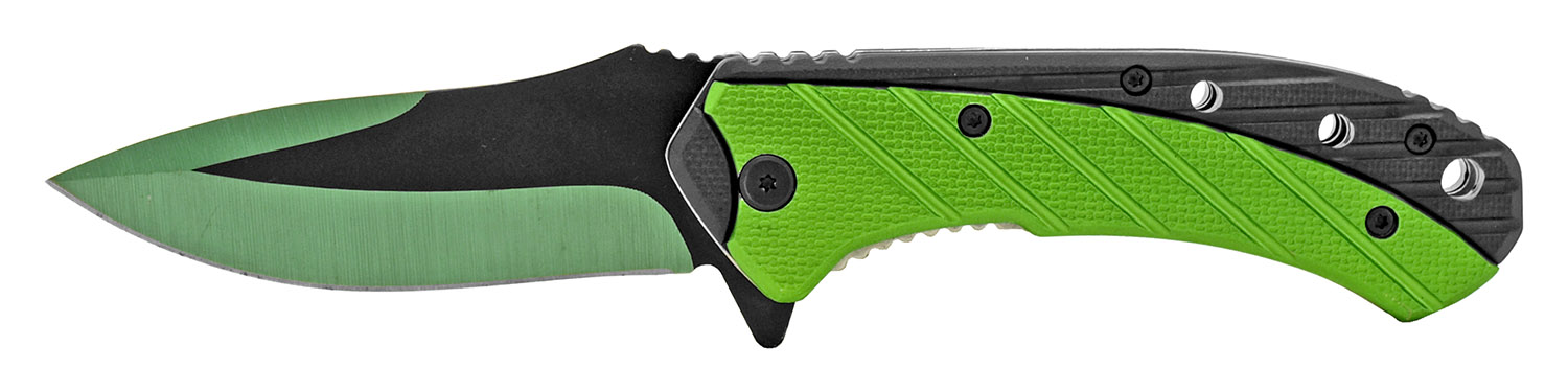 4.75 in Color Rush Spring Assisted Folding Knife - Green