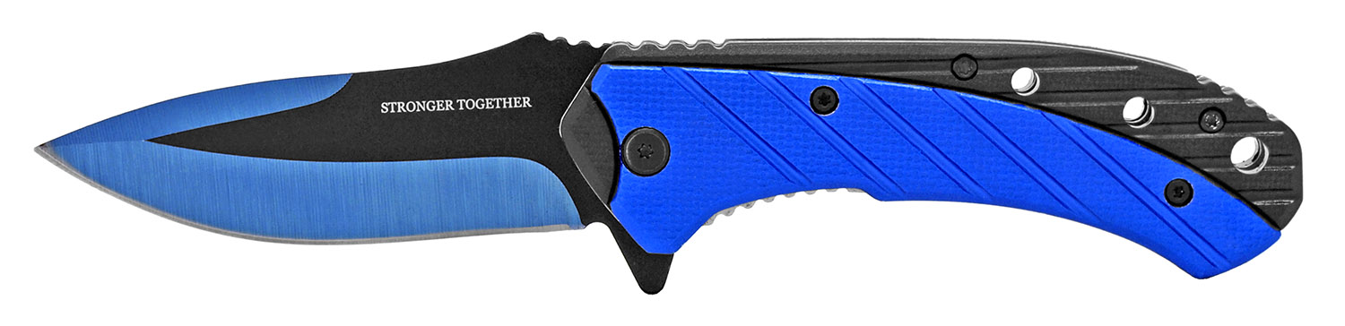 4.75 in Stonger Together Folding Knife - Blue