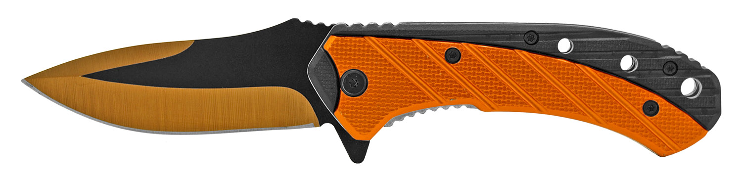 4.75 in Color Rush Spring Assisted Folding Knife - Orange