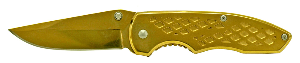 3.75 in Spring Assisted Folding Knife - Yellow