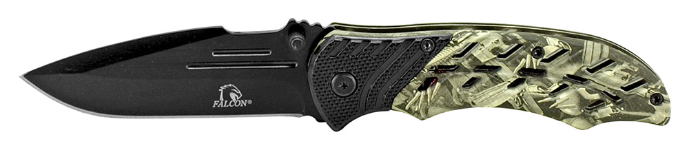 4.5 in Spring Assisted Folding Knife - Black and White