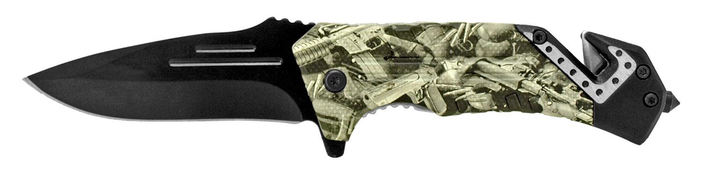 4.5 in Folding Survival Knife - Gun Camo