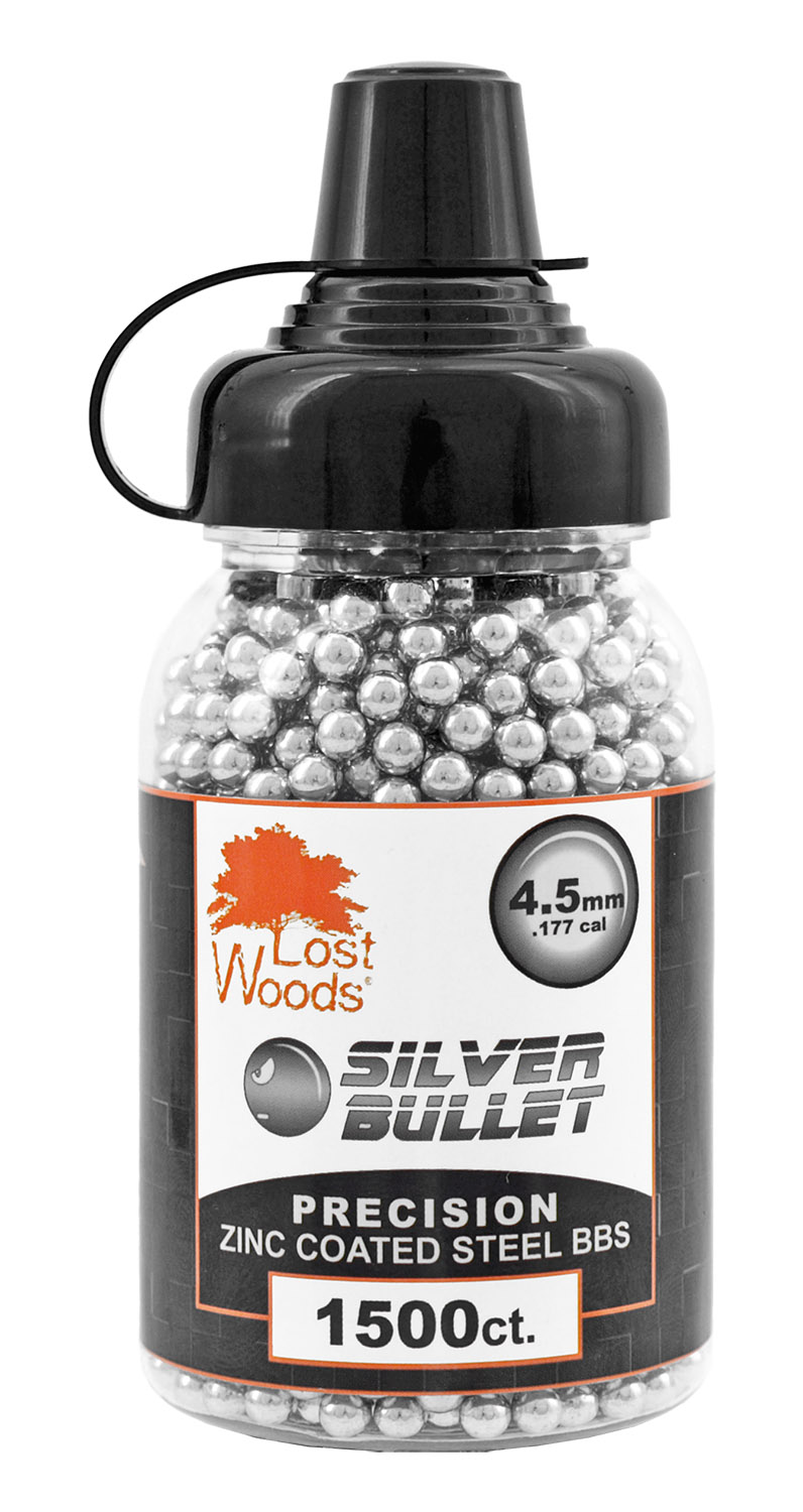 1,500-pc. Lost Woods Silver Bullet 4.5mm Zinc Coated BBs