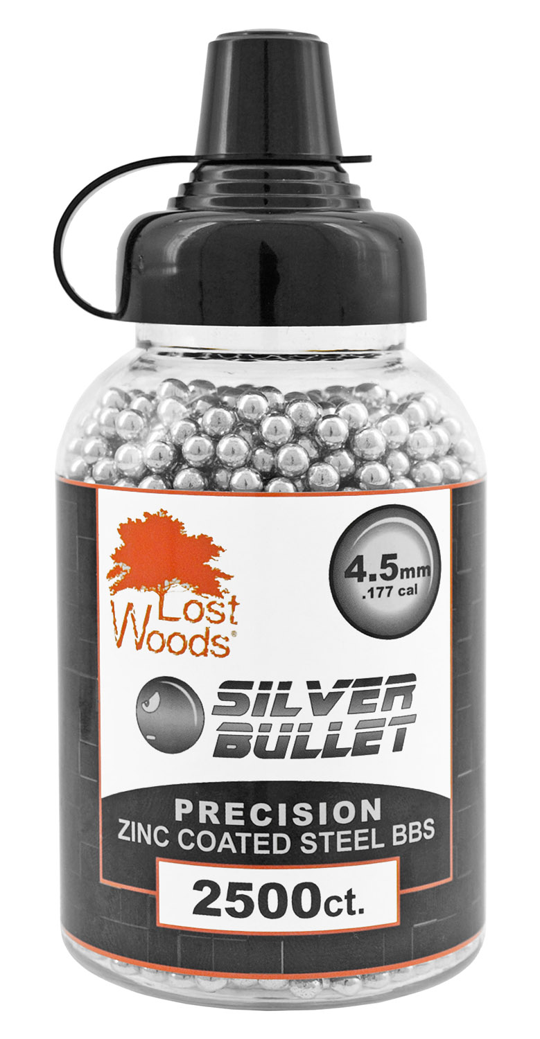 2,500-pc. Lost Woods Silver Bullet 4.5mm Zinc Coated BBs