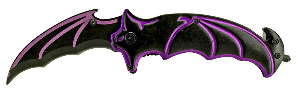 4.75 in Bat Wing Knife - Purple