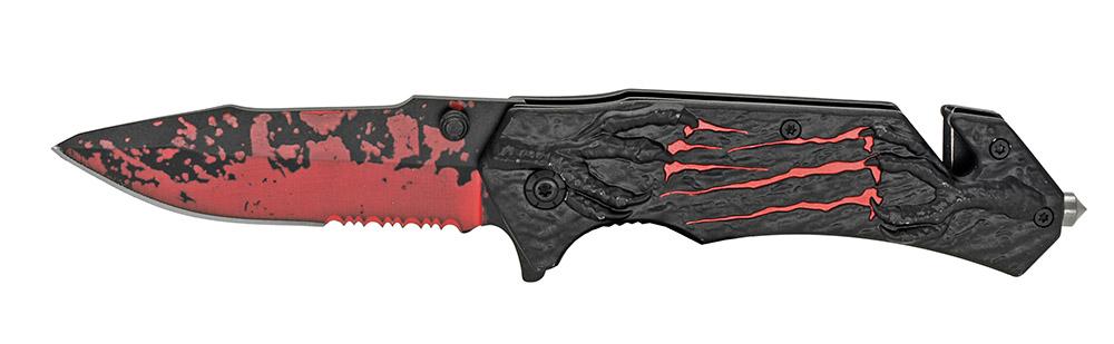 4.5 in Spring Assist Eagle Talon Folding Knife - Red