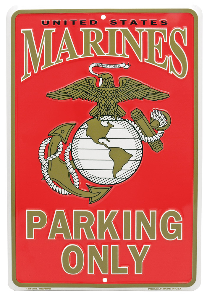 Marines Parking Only Tin Sign