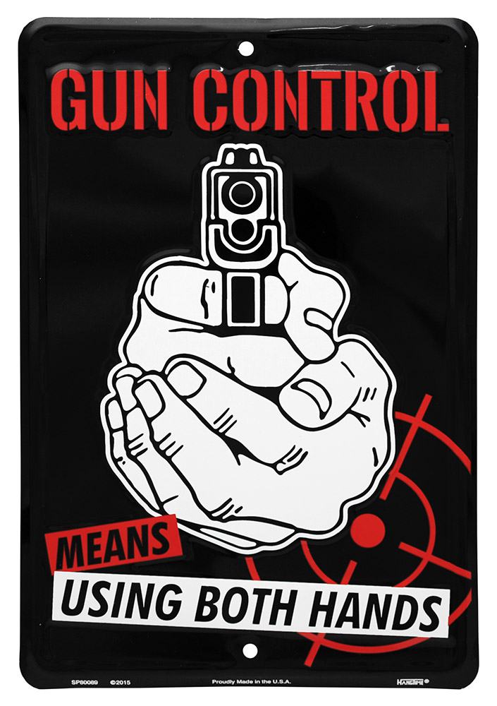 Gun Control Tin Sign