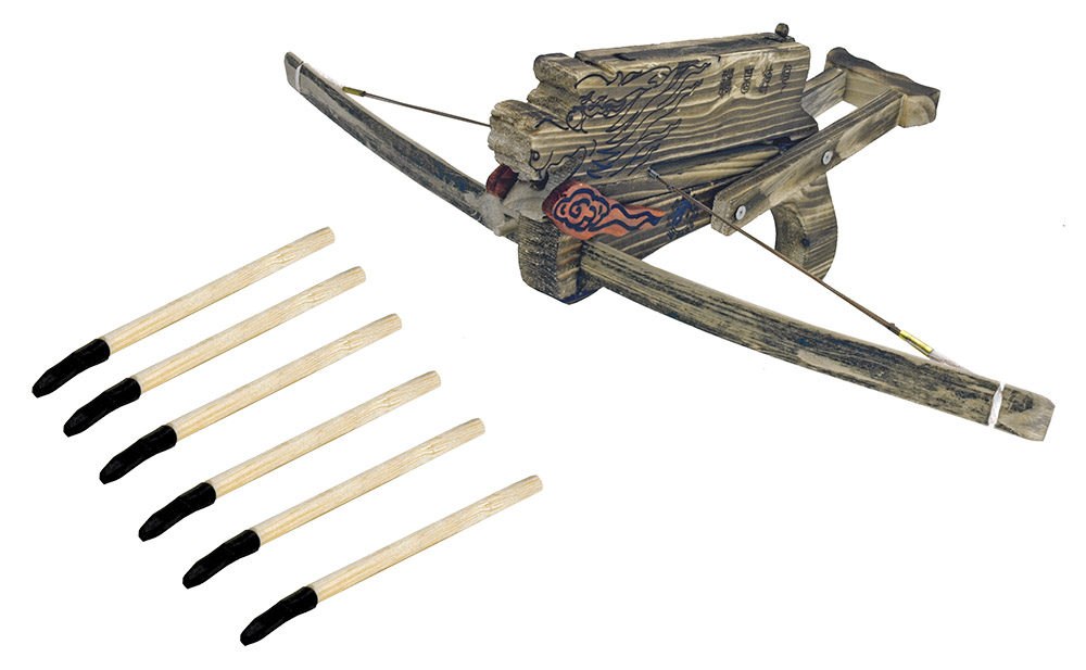 Wooden Dragon Crossbow with Arrows