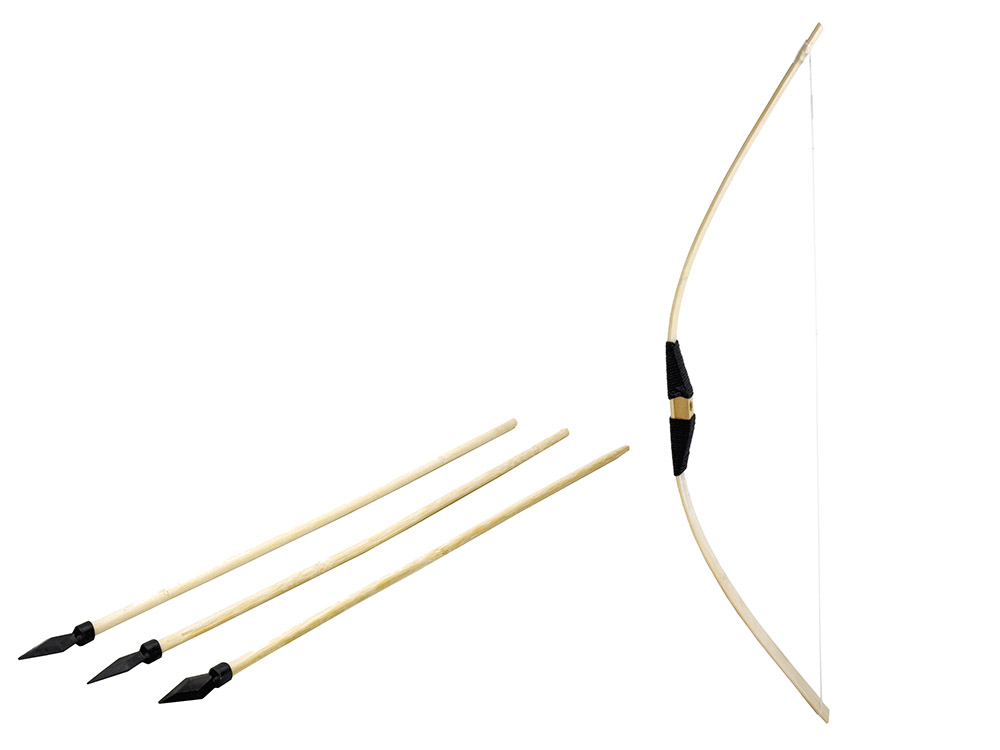 Wooden Bow with Arrows