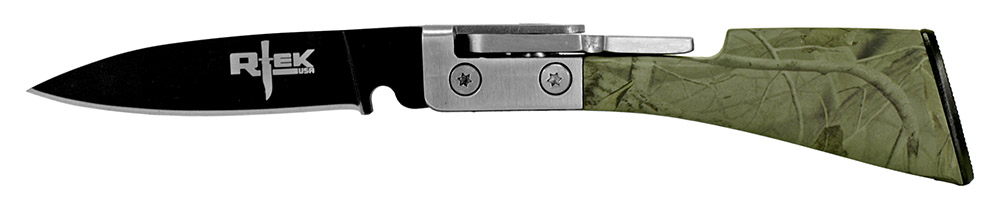 4.75 in R-Tek Rifle Knife - Woodland Camo