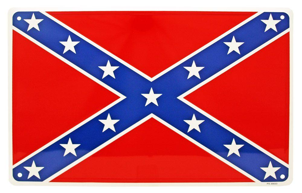 Confederate Flag Tin Sign