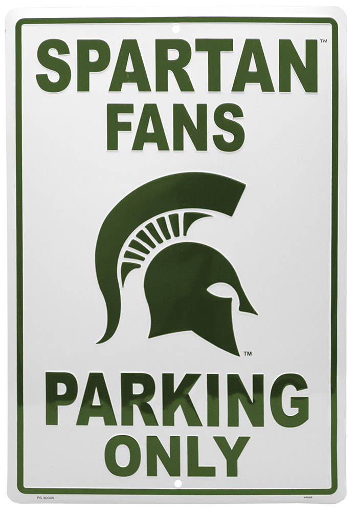 Michigan State Spartans Fans Parking Only Tin Sign