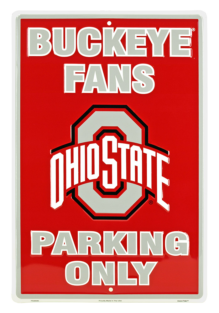 Ohio State Buckeye Fans Parking Only Tin Sign