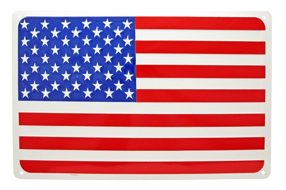 American Flag Tin Sign