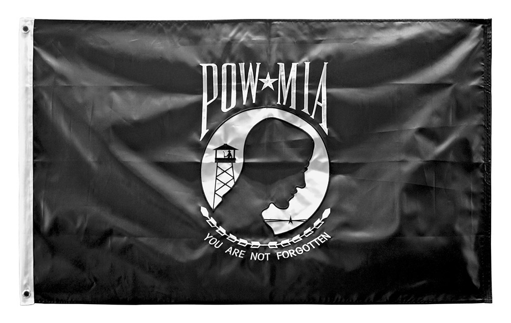 3' x 5' POW Flag with Dual Sided Embroidering