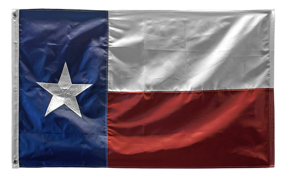 3' x 5' Texas Embroidered Flag