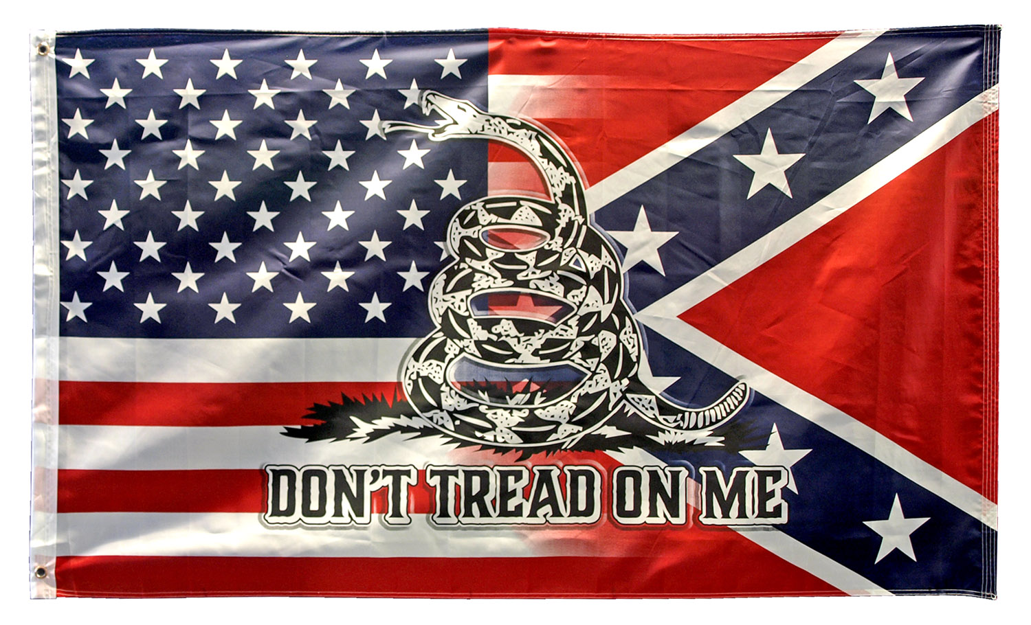 3' x 5' USA, Confederate, and Gasden Blended Flag