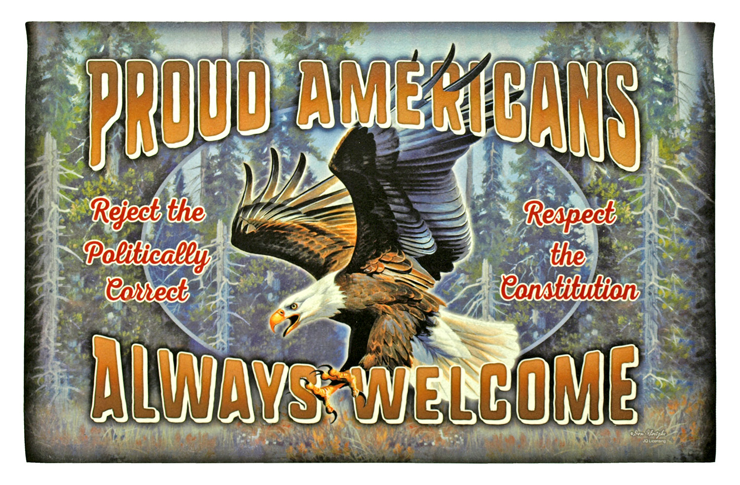 Proud Americans Always Welcome - Door Mat