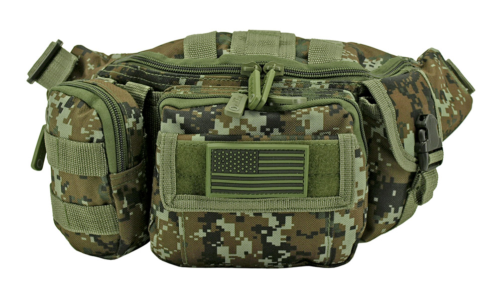 Tactical Fanny Pack - Green Digital Camo