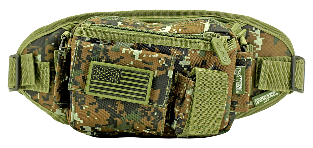 Utility Fanny Pack - Green Digital Camo
