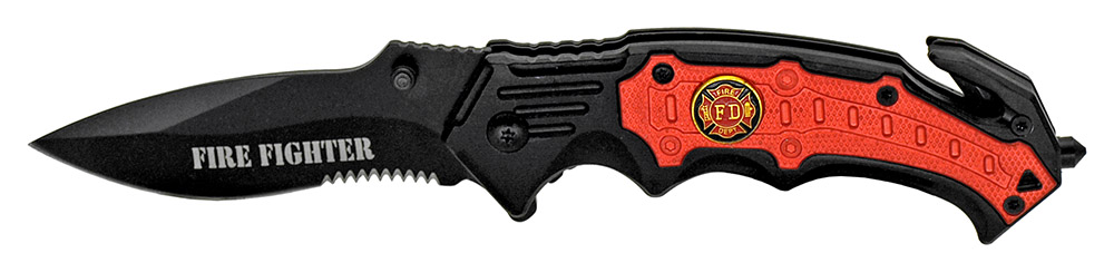 4.75 in Spring Assisted Firefighter Knife
