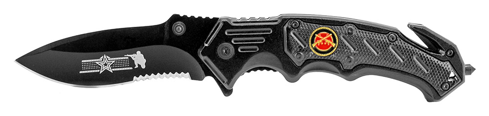 5 in Spring Assisted Folding Knife - Black