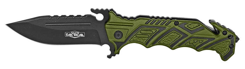 4.75 in Spring Assist Folding Knife - Green