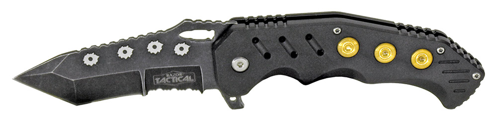 4.75 in Spring Assisted Bullet Catcher Knife - Black