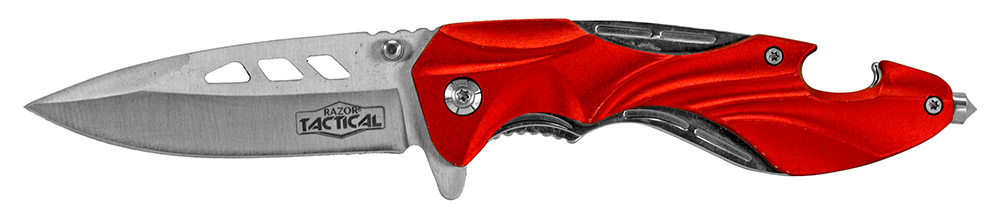 4.75 in Folding Tactical Knife - Red