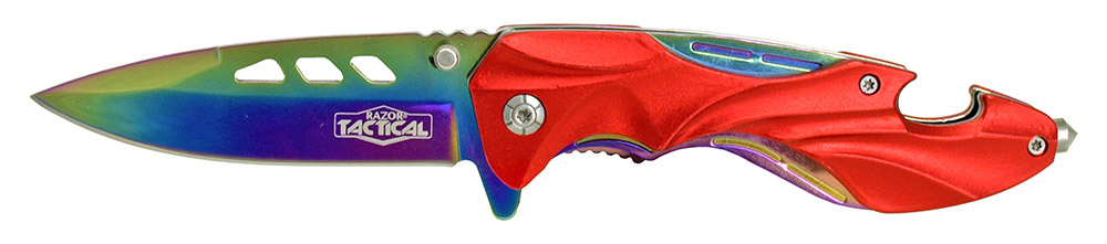 4.75 in Spring Assisted Folding Knife - Red