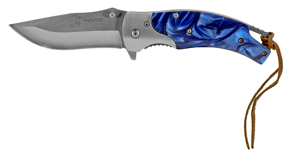 4.5 in Spring Assisted Hunting Knife - Blue