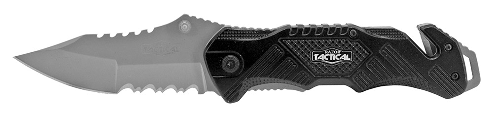5 in Spring Assisted Tactical Folding Knife - Black