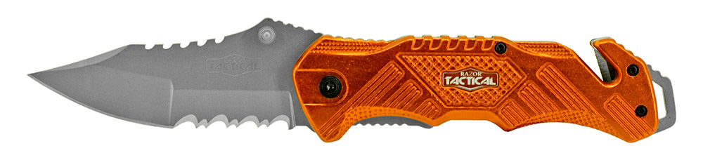 5 in Spring Assisted Tactical Folding Knife - Orange