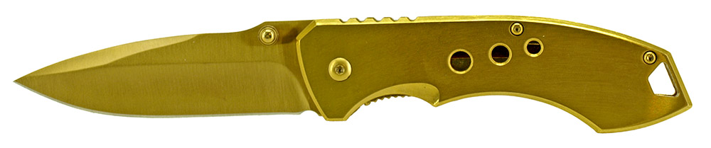 4.75 in Spring Assisted Folding Knife - Yellow