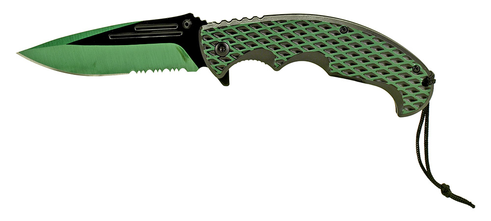 5 in Spring Assisted Color Rush Folding Knife - Green