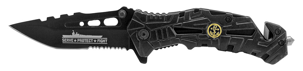 4.75 in Spring Assisted Folding Knife - Navy