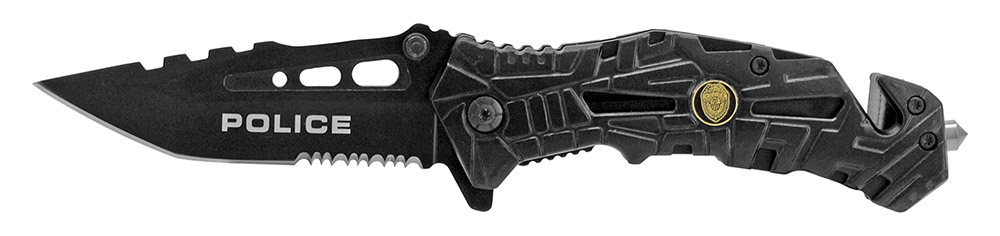 4.75 in Spring Assisted Folding Knife - Police