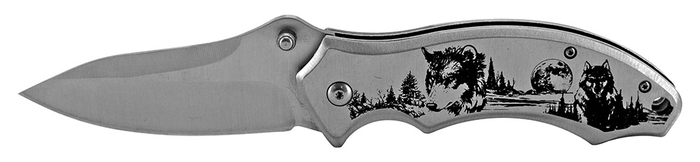 4.75 in Spring Assisted Folding Knife - Wolf
