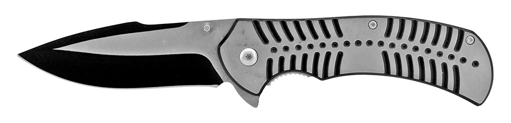 4.75 in Spring Assisted Stainless Steel Folding Knife - Black