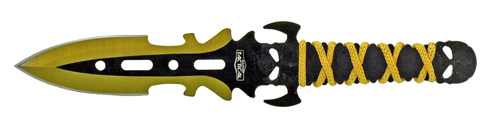 3-pc. Skull Throwing Knives - Yellow