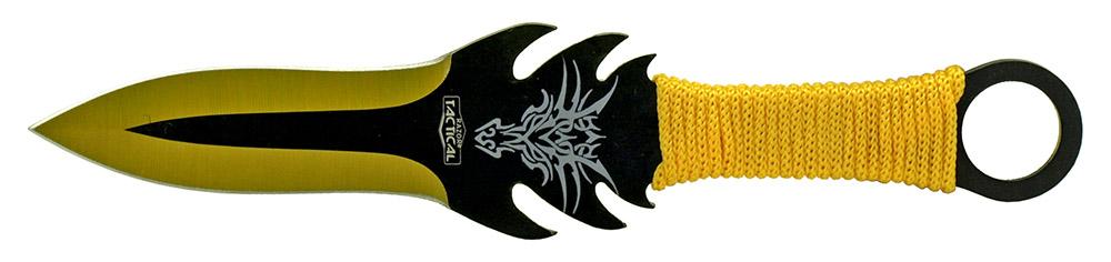 3-pc. Throwing Knife Set - Yellow