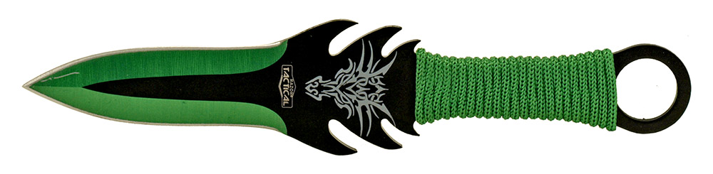 3-pc. Throwing Knife Set - Green