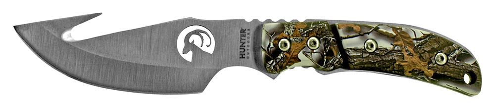 8.5 in Hunting Knife with Gut Hook - Snow Camo