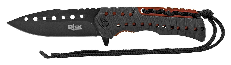 4.88 in Rtek Folding Knife - Black and Red