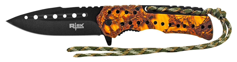 4.88 in Rtek Folding Knife - Orange Digital Camo