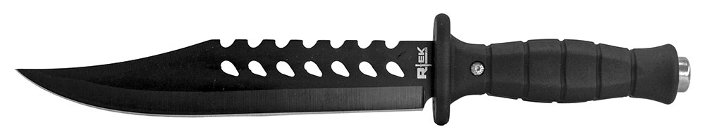 13 in R-Tek Combat Bowie Knife - Black
