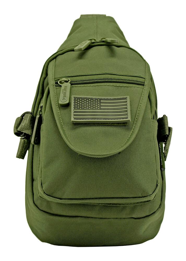 Military Sling Bag - Olive Green