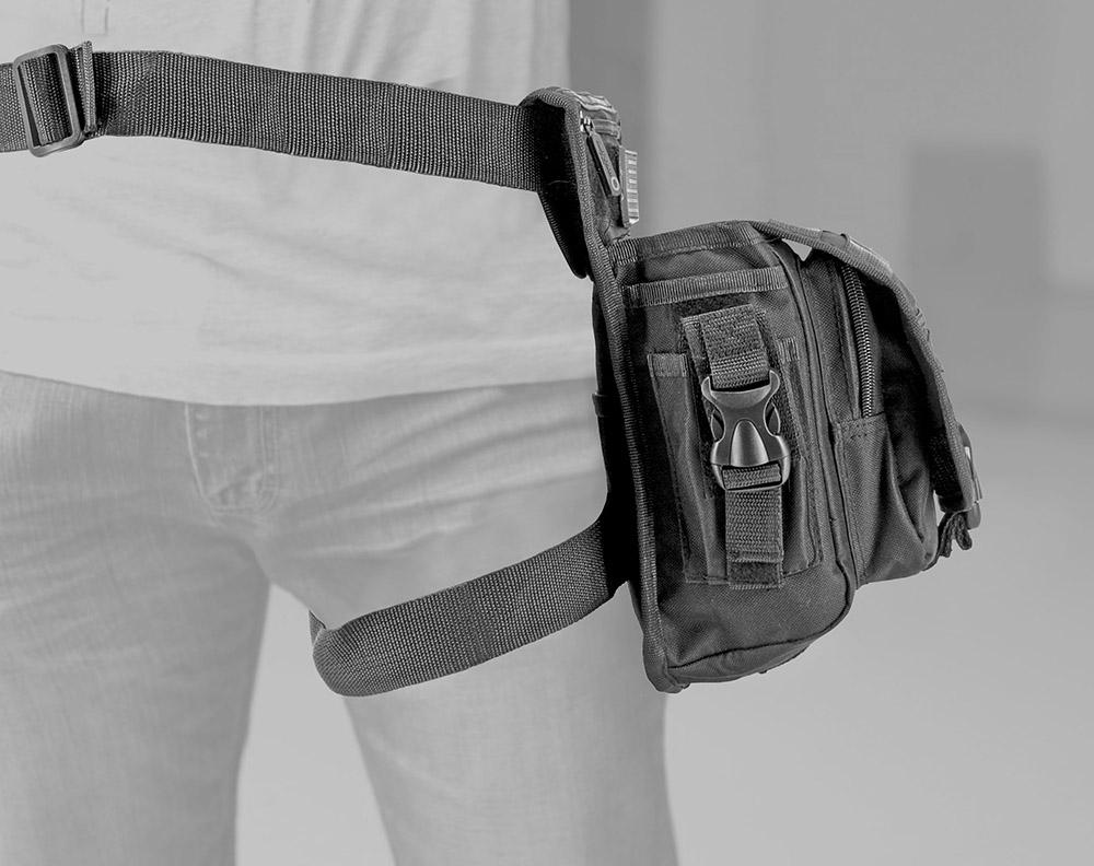 Tactical Hip Bag - Black