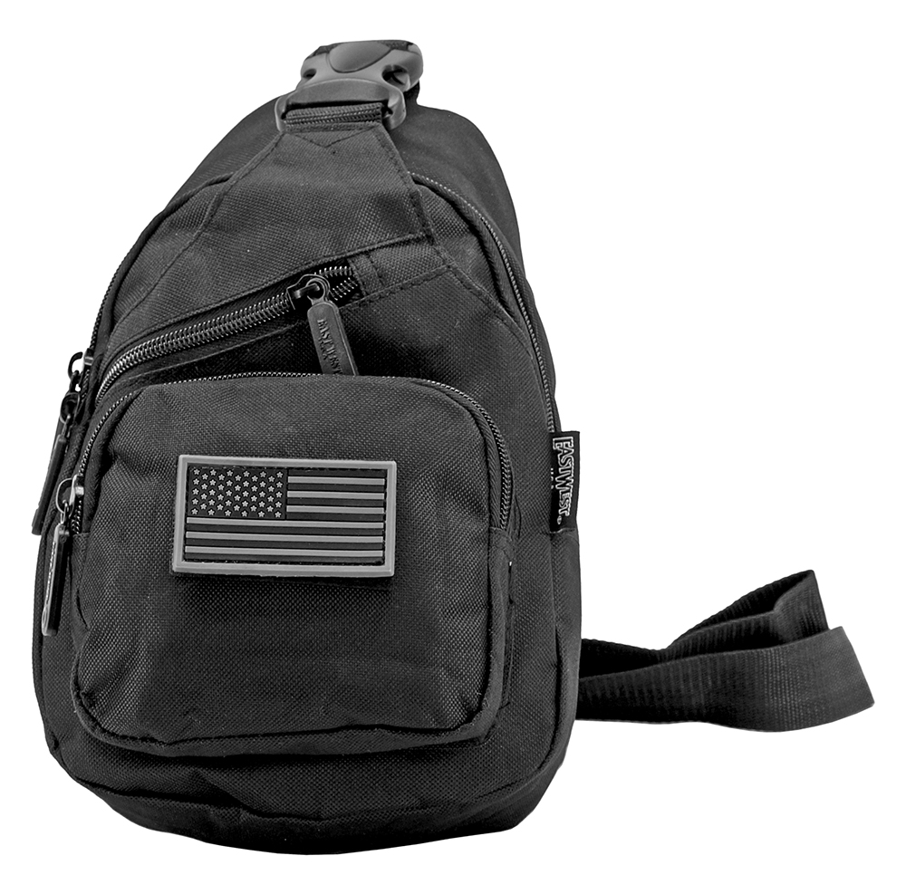 Military Side Sling Bag - Black